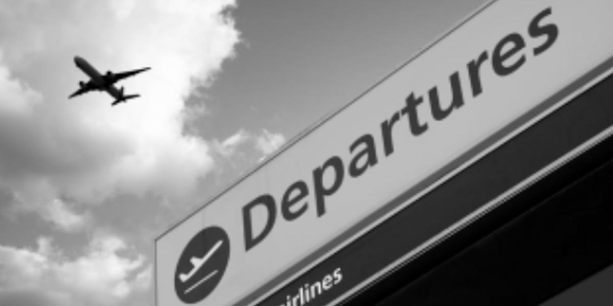 Plane departing